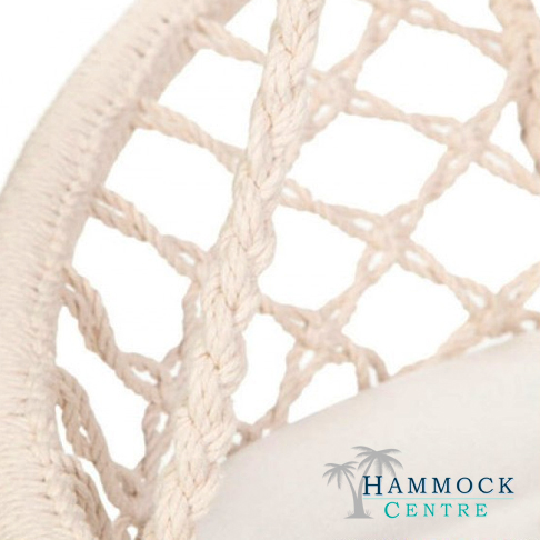 Hammock centre macrame hanging chair for Macrame hanging chair